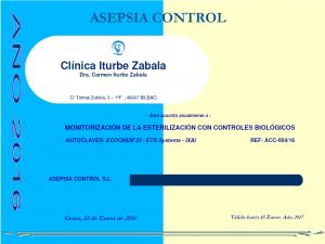 Certificado Control Biologico